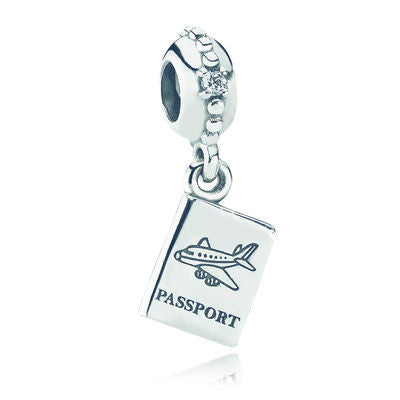 Adventure Awaits Dangle Charm - Sterling Silver and Clear CZ - PANDORA - 791147CZ