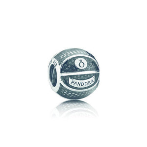 Basketball Charm - Sterling Silver with Clear Enamel - PANDORA - 791201EN44