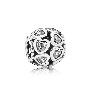 Love All Around Charm - Sterling Silver with Clear CZ - PANDORA - 791250CZ