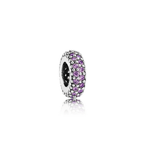 Inspiration Within Spacer - Sterling Silver with Fancy Purple CZ - PANDORA - 791359CFP