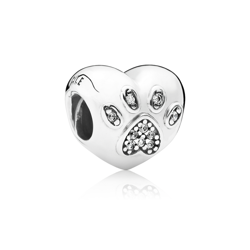 I Love My Pet Charm - Clear CZ - PANDORA - 791713CZ