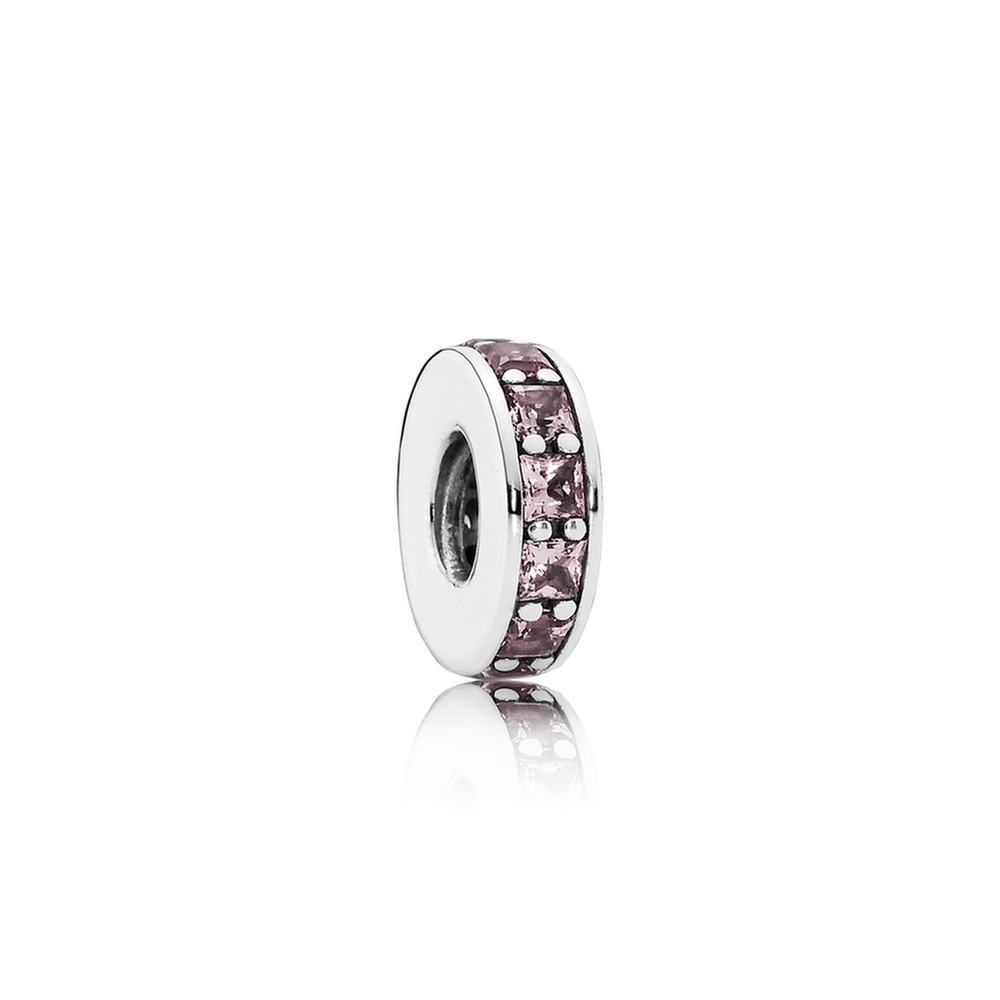 Eternity Spacer - Sterling Silver with Blush Pink Crystal - PANDORA - 791724NBP