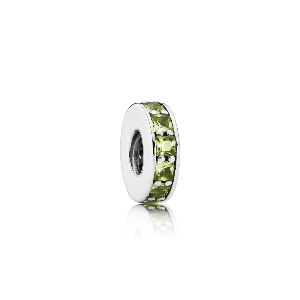 Eternity Spacer - Sterling Silver with Olive Green Crystal - PANDORA - 791724NLG