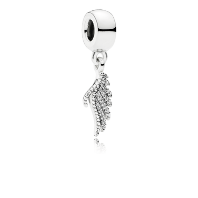 23f8fabe5 Majestic Feather Dangle Charm - Sterling Silver with Clear CZ - PANDORA -  791750CZ