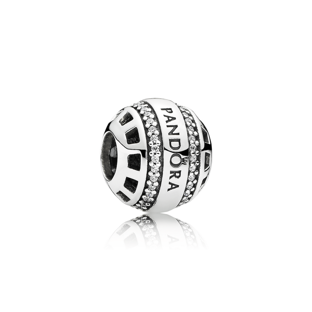 19eeb5f4467137 Forever Pandora Charm - Sterling Silver with Clear CZ - PANDORA - 791753CZ
