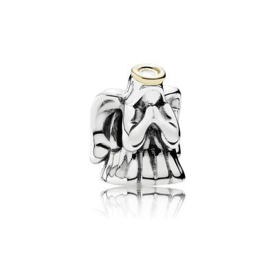 6b6605d95 Divine Angel Charm - Sterling Silver with 14K Gold - PANDORA - 791770