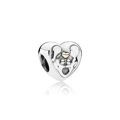 e524c427e Heart of the Family Charm - Sterling Silver with 14K Gold - PANDORA - 791771