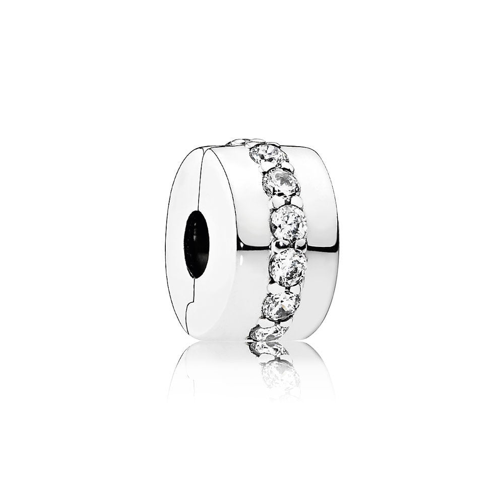 Shining Path Spacer - Sterling Silver and Clear CZ - PANDORA - 791972CZ