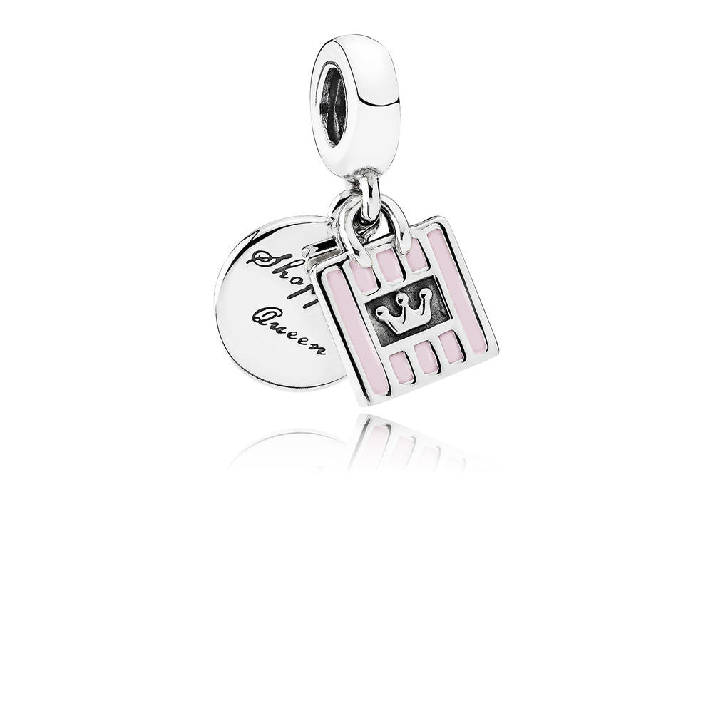c459c4c5fd8 Shopping Queen Charm - Sterling Silver with Soft Pink Enamel - PANDORA -  791985EN40