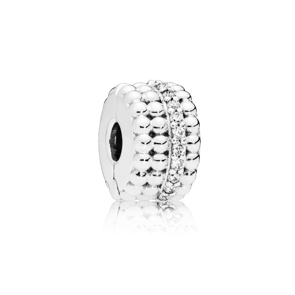 Beaded Brilliance Clip - Clear CZ - PANDORA - 797520CZ