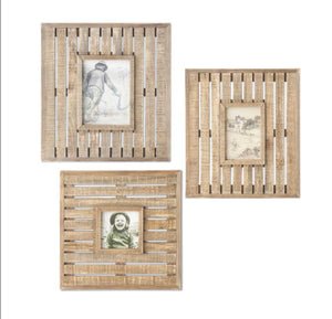 Wooden Lath Photo Frame(3 Style Sold Separately)