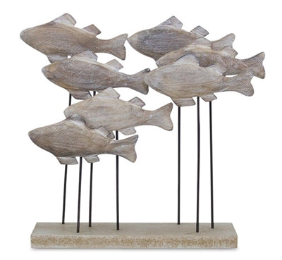 School of Fish on Wood Stand