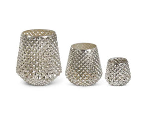 Mercury Glass Honeycomb Vases