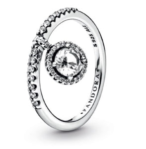 Dangling Round Sparkle Ring-Pandora