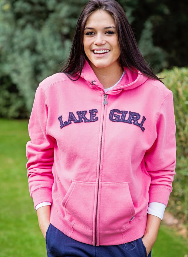 Lake Girl-Full Zip Hoodie-Pink Lemonade