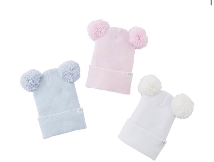 Pom Newborn Hat-(3 Colors Sold Separately)