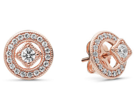 Vintage Allure Earrings-Pandora Rose