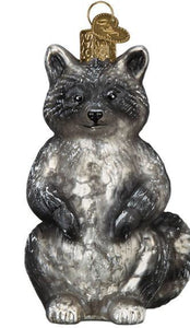 Vintage Raccoon-Old World Ornament