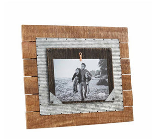 LAYERED WOOD TIN FRAME-2 Styles Sold Separately