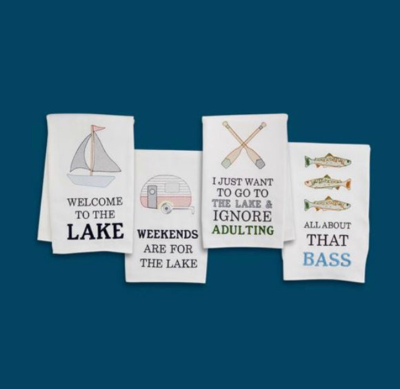 Embroidered Lake Towel (4 Styles Sold Separately)