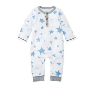 Star Long Sleeve One-Piece Pajamas (3 Sizes Sold Separately)