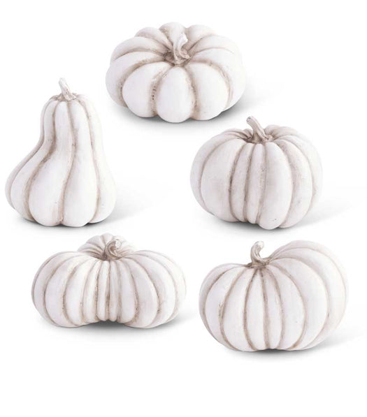 White Resin Pumpkins
