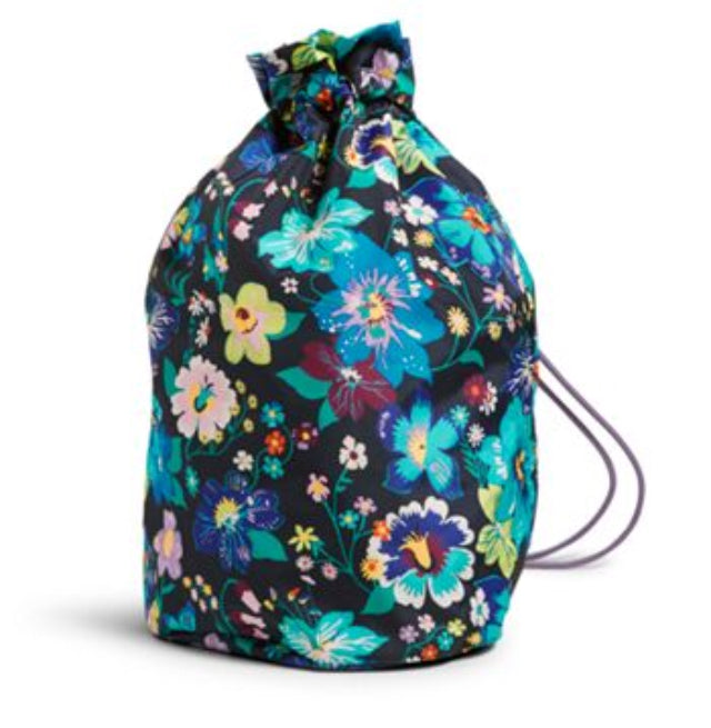 Cinch Laundry Bag-Vera Bradley-Firefly Garden
