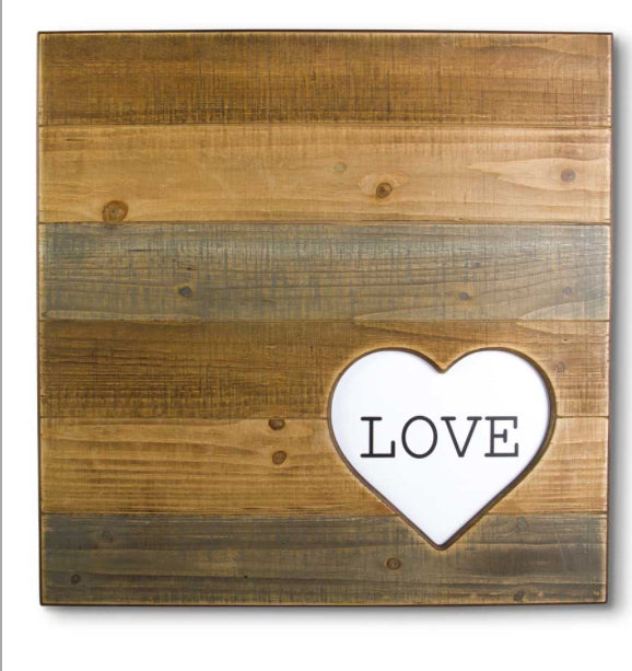 Love Slat Wood Sign