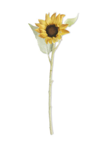 Sunflower w/Flocked Stem-18""
