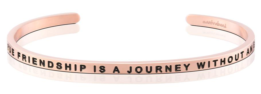 A TRUE FRIENDSHIP IS A JOURNEY WITHOUT AN END - Mantraband - 18K Rose Gold Overlay