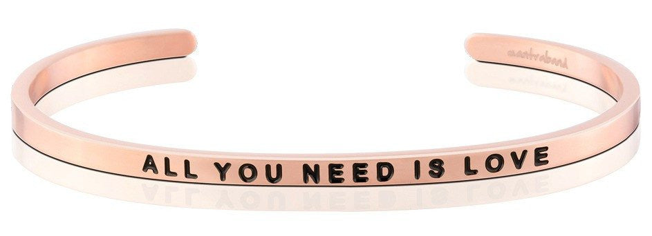 All You Need is Love - MantraBand - 18K Rose Gold Overlay