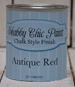 Shabby Chic Chalk Style Finish Paint - 32oz - Antique Red