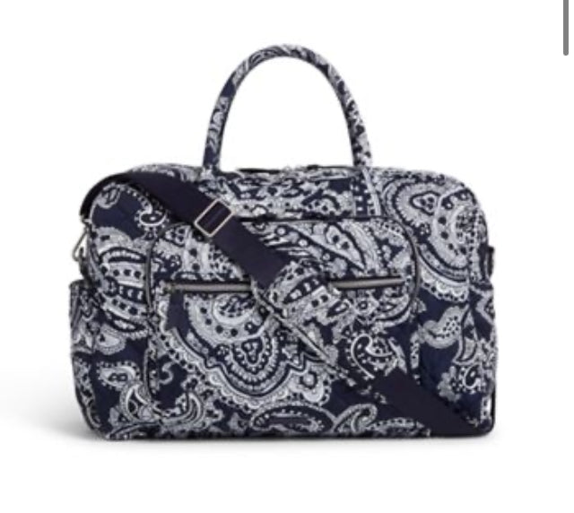 Iconic Weekender Travel Bag-Deep Night Paisley Neutral-Vera Bradley