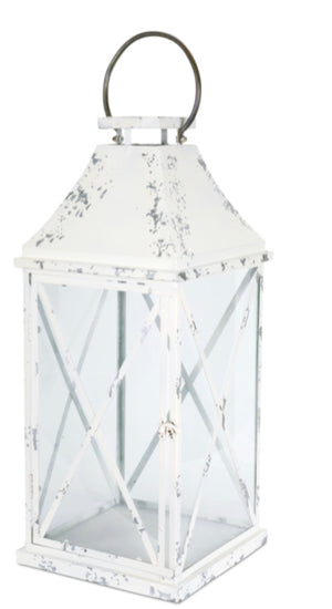 White Metal Lantern-2 Sizes Sold Separately