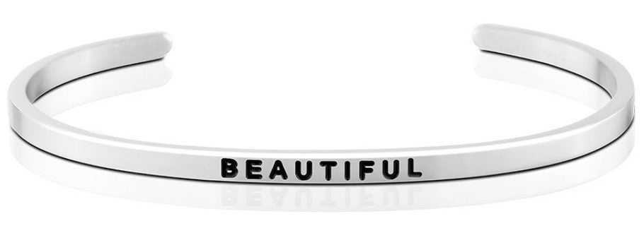 Beautiful - MantraBand - Silver