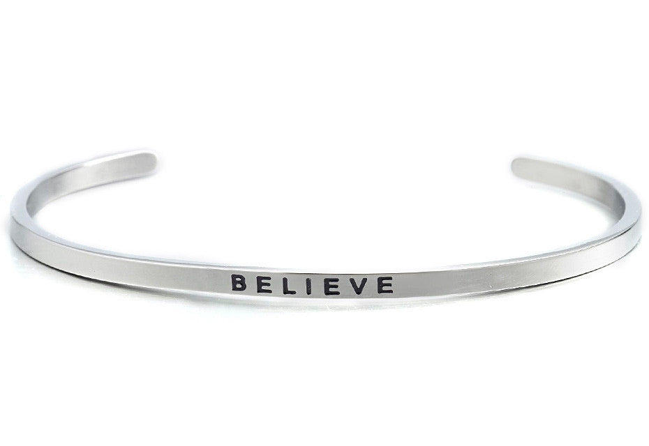 Believe - MantraBand - Silver
