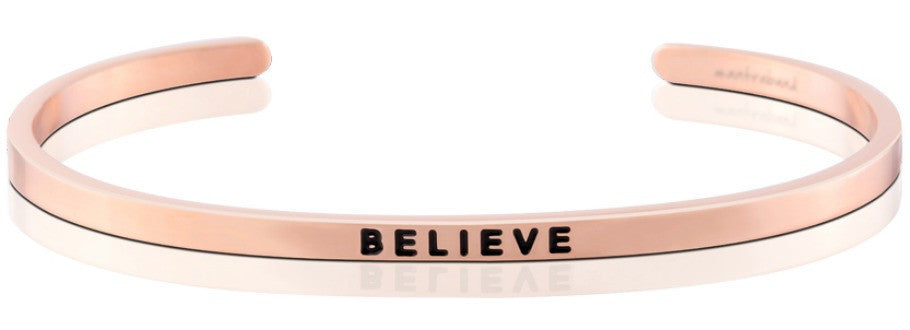 Believe - MantraBand - Rose Gold Plated