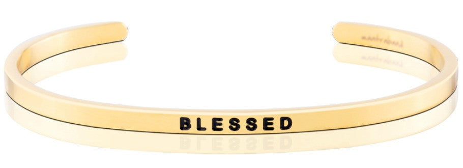 Blessed - MantraBand - 18k Gold Overlay