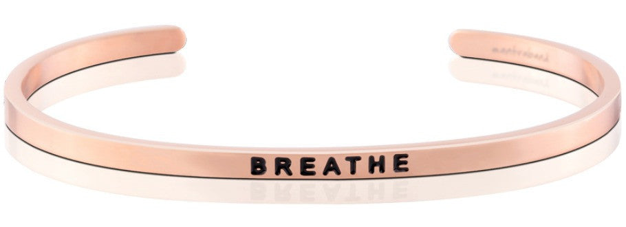 Breathe - MantraBand - 18k Rose Gold Overlay