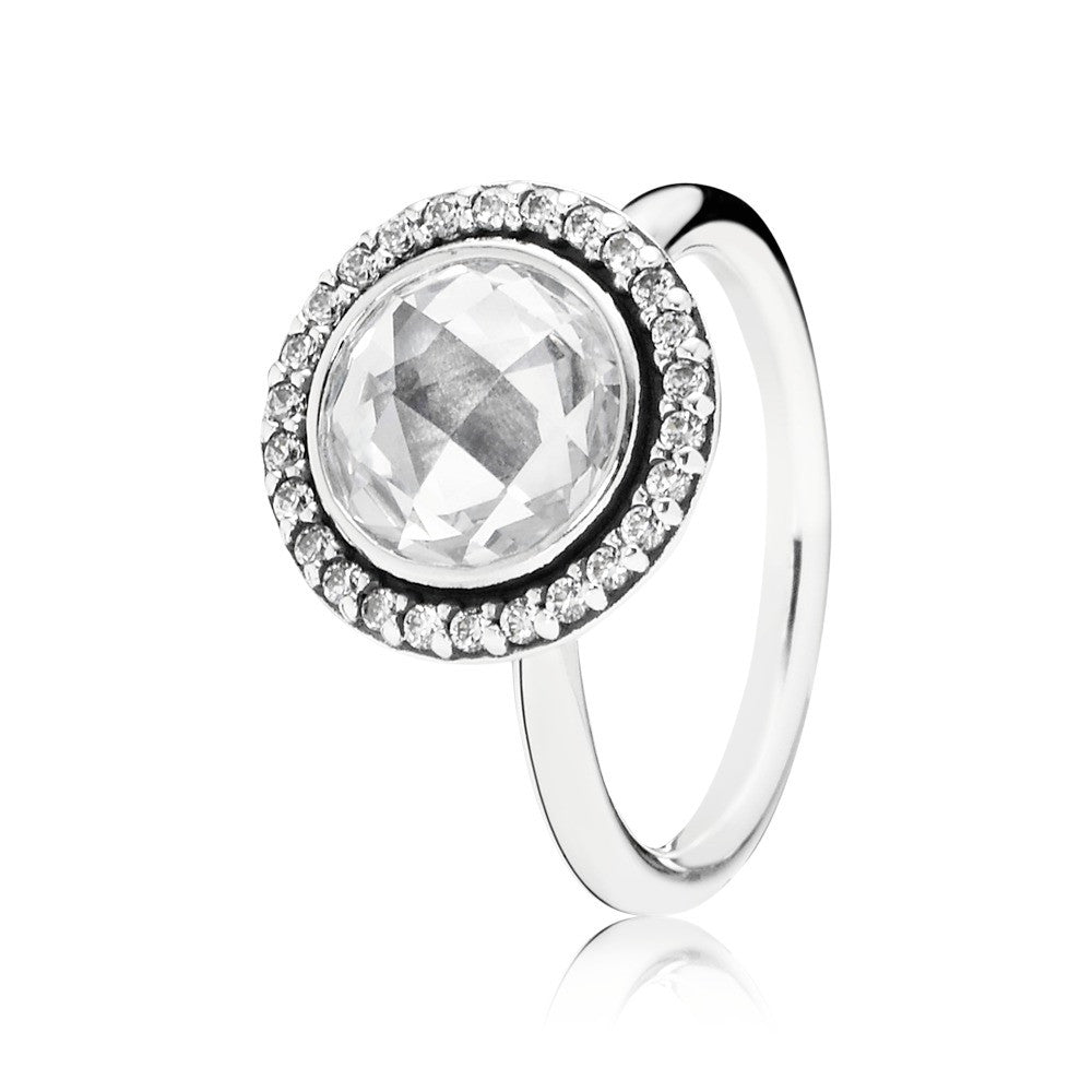Brilliant Legacy Stackable Ring - Sterling Silver and Clear CZ - PANDORA - 190904CZ