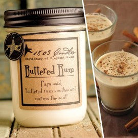 1803 Candles- 14oz Jar - Buttered Rum