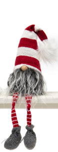 "GNOME WITH PUFF, WIRED RED/WHITE HAT 18.5""-(2 Styles Sold Separately)"