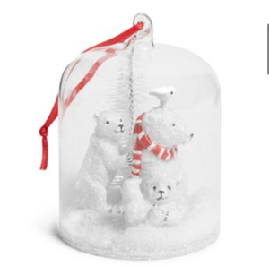 Polar Bear Globe Ornament-Beary Merry-Vera Bradley