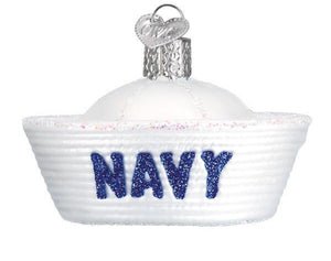 Navy Cap-Old World Ornament