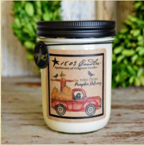 1803 Candles - 14oz Jar - Three Crows Pumpkin Delivery