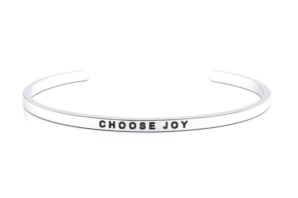 Choose Joy - MantraBand - Silver