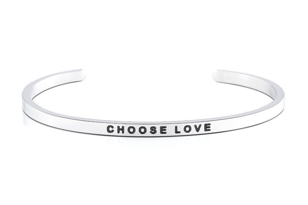 Choose Love - MantraBand - Silver