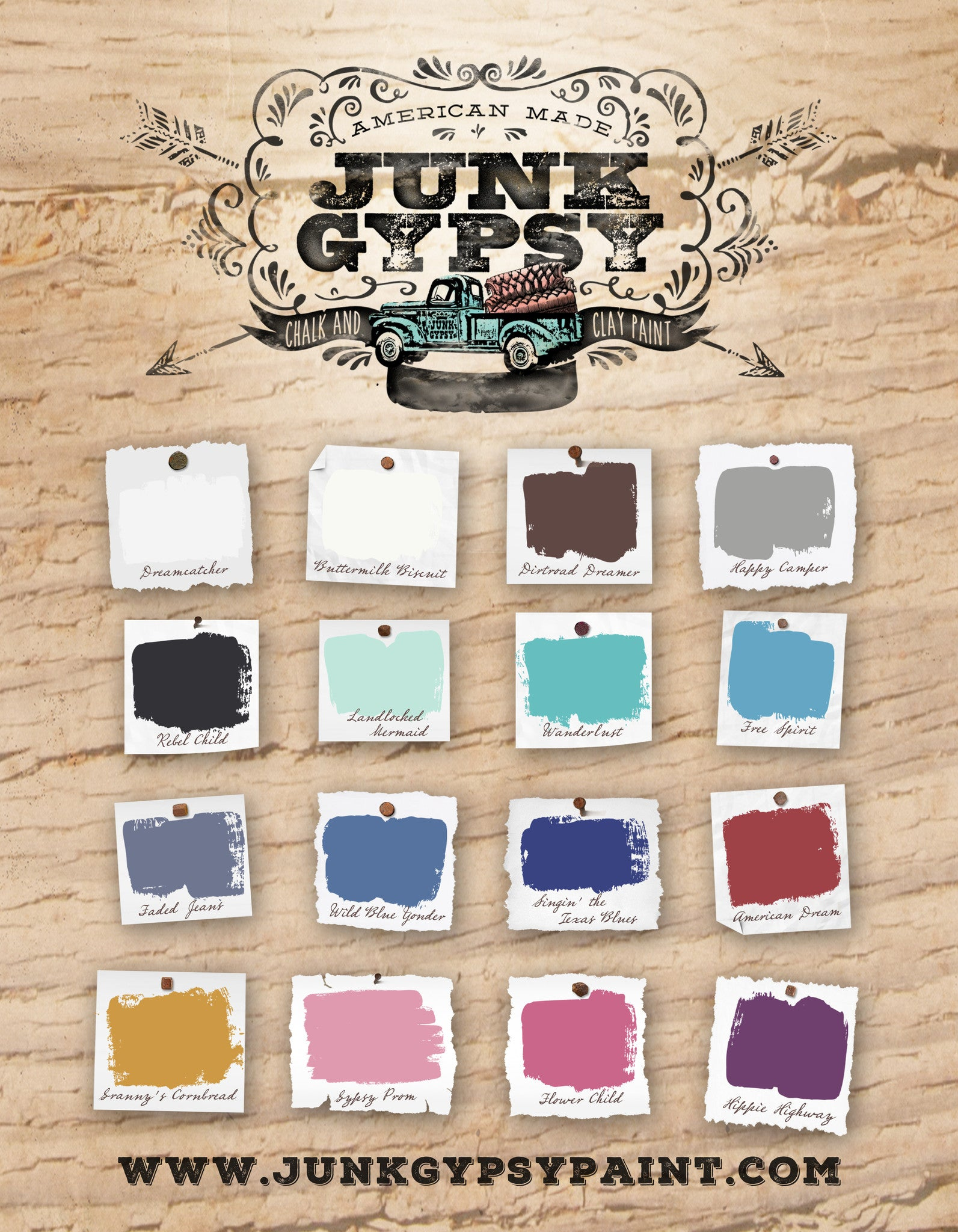 Junk Gypsy Paint - Faded Jeans - 8oz - Chalk and Clay Paint