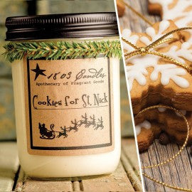 1803 Candles- 14oz Jar - Cookies for St Nick