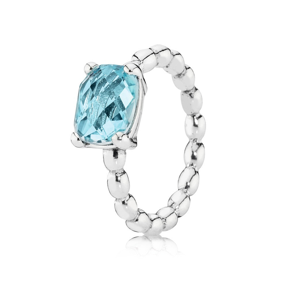 Cool Breeze Ring - Sterling Silver and Blue Topaz - PANDORA - 190869BTP